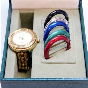 Authentic Gucci Watch Set 5 Colors With box